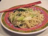 Parboiled Noodles With Stir Fried Crabmeat Topping